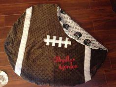 Custom Baby Football Blanket Minky by PeytonsKloset2011 on Etsy