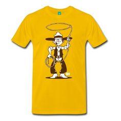Cowboy with a lasso T-Shirt. #Cardvibes #Tekenaartje #Spreadshirt #New #TShirt