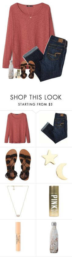 """""""Mountains roar"""" by halledaniella ❤ liked on Polyvore featuring MANGO, American Eagle Outfitters, Billabong, Seoul Little, Kendra Scott, Victoria's Secret, Forever 21 and S'well"""