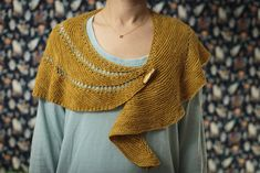 bracket form by Meghan Jackson. malabrigo Sock in Ochre colorway