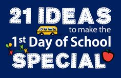 Organized Mom: Back to School!  21 Ideas To Make Your Child's First Day of School Special