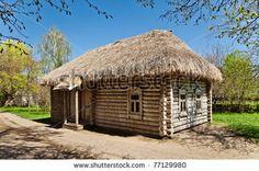russian log homes   Ancient Russian Log Hut Stock Photo 77129980 : Shutterstock