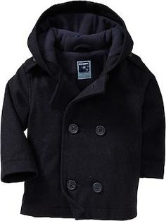 Hooded Wool-Blend Peacoats for Baby @ Old Navy.   I want this for Samuel SO bad.
