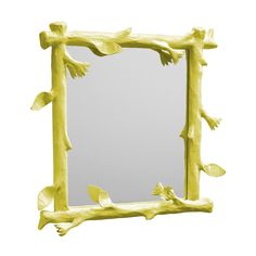This twiggy papier mache mirror could be fun in Chloe's room, a nice pop of color in a sea of neutral tones...