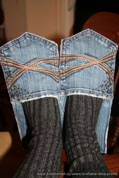 Jean slipper Only because I know My Grandpa would've made these had he thought of it!!