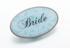 Lillian Rose JL620 BR Bride Pin - Oval Aqua