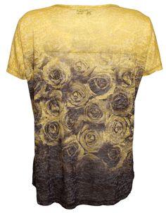 Pulz Jeans Rose T-shirt Antique Moss/Black