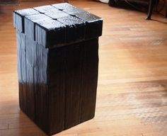 Japanese Charred Wood: Shou-Sugi-Ban Style covered in black epoxy resin made by Robert Strong of the WoodDesignGroup