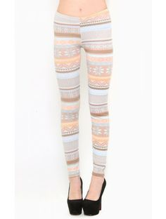Fair Isle Baby #Leggings