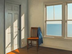 Paintings of absence and melancholy (I) – Chairs and windows by Jim Holland Edward Hopper, Georgia O'keeffe, Fairfield Porter, Jack Vettriano, Through The Window, Windows, Light And Shadow, American Artists, Ramen