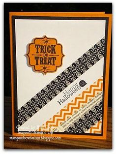 Stamp and Sew For Fun - Halloween Card, Stampin' Up!