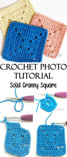 PHOTO TUTORIAL: SOLID GRANNY SQUARE