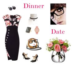 """Dinner Date"" by nthpocket ❤ liked on Polyvore featuring Dorothy Perkins, Komono, NOVICA, Anne Sisteron and LSA International"