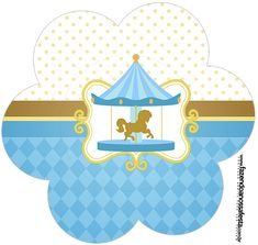 Carousel in Light Blue: Free Printable Candy Bar Labels. Baby Party, Baby Shower Parties, Baby Shower Themes, Shower Party, Candy Bar Wrapper Template, Candy Bar Labels, First Birthday Party Decorations, Party Themes, Party Printables