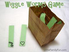 Play the wiggle worm game...