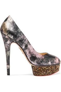 Shop on-sale Charlotte Olympia Dolly metallic printed leather pumps. Browse other discount designer Pumps & more on The Most Fashionable Fashion Outlet, THE OUTNET.COM #charlotteolympiaheelsshopping #charlotteolympiaheelsmetallicleather #charlotteolympiaheelsfashion