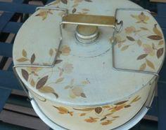 Metal Cake Safe: Hall's Autumn Leaf pattern for Jewel Tea