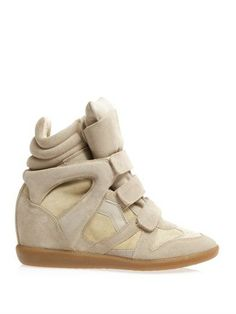 3502c97464fb Beige Suede Wedge Sneakers by Isabel Marant. Buy for  486 from  MATCHESFASHION.COM Nude
