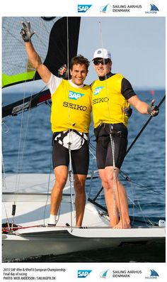 Olympic Sailing Medalists, Peter Burling and Blair Tuke win Gold in SAP 49er European Championships.