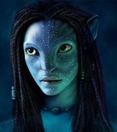 Neytiri by Seaman Arts Avatar Films, Avatar Movie, Stephen Lang, James Cameron, Michelle Rodriguez, Zoe Saldana, Aliens, For Elise, Style Challenge