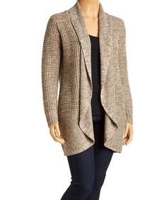 Love this Olive Drape-Front Open Cardigan - Plus on #zulily! #zulilyfinds