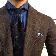 @satoru_4891 wearing our triple bar shantung silk tie. Available at shibumi-firenze.com #shibumi