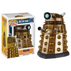 Exterminate! Collect all the villainous villains from Doctor Who in fun-tastic Pop! style. Star with this 3 3/4-inch tall Doctor Who Dalek Pop! Vinyl Figure, and get your order in before that timey-wi