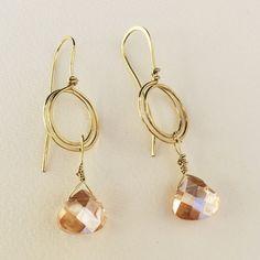 Swirl And Crystal Earrings