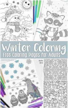 Free Printable Winter Coloring Pages For Adults