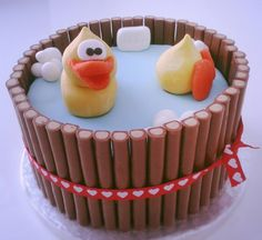 Did this myself, cute duck cake