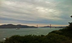 Cloudy day at the Golden Gate