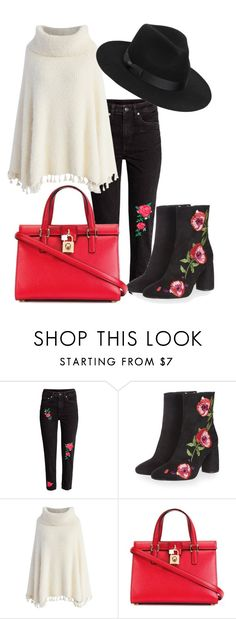 """""""2017"""" by adancetovic on Polyvore featuring Topshop, Chicwish, Dolce&Gabbana and Lack of Color"""