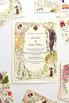 Illustration and Stationery Made in Baltimore. Wedding Invitations, Wedding Stationery and Illustrations Custom Made. Illustration Blume, Wedding Illustration, Wedding Cards, Wedding Events, Wedding Gifts, Weddings, Top Wedding Trends, Wedding Designs, Trendy Wedding