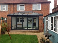 Take a look at our recent modern and traditional extension and conservatory projects. We design and build your conservatory using the latest technologies to create your ultimate extended living space or garden room. Porch Extension, House Extension Plans, Conservatory Extension, House Extension Design, Glass Extension, Extension Ideas, Lean To Conservatory, Glass Conservatory, Conservatory Design