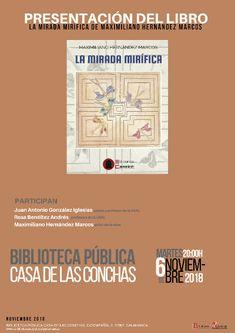 Presentación del libro, 6 de noviembre de 2018. a las 20 horas, Salón de Actos. Acompañan al autor Juan Antonio González Iglesias, poeta y profesor de la Usal y Rosa Benéitez Andrés, profesora de la Usal.