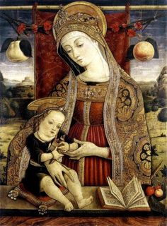 Madonna and Child ca 1482, Carlo Crivelli. Italian Early Renaissance Painter, ca.(1430-1495)
