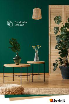 34 Fabulous Green Interior Decoration Ideas to Wow Living Room Green, Green Rooms, Home Living Room, Living Room Designs, Living Room Decor, Bedroom Decor, Bedroom Colors, Deco Design, Design Trends