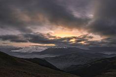 Sunset over Ventasso mountain by Enrico Righetti