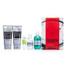 Logistics For Men The Essential Traveler Kit: Cleanser + Mositurizer + Lip Blam + Shave Cream + Hair & Body Wash - 5pcs