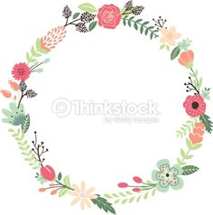 Vector Art : Vintage Flowers Wreath