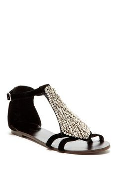 Therow Flat Sandal by NYLA on @HauteLook
