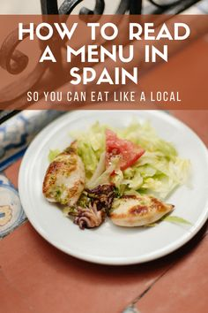 It doesn't matter whether you're bound for Madrid, Barcelona, the Costa del Sol or anywhere in between: learning how to read a Spanish menu is crucial for ordering food at tapas bars and restaurants in Spain. Here's what and how to order depending on the number of friends you're dining out with—so you can experience Spain's food scene like a local. Spanish Menu, Spanish Food, Learn Spanish, Fresh Fruits And Vegetables, Veggies, Mediterranean Diet Recipes, Fish Dishes, Perfect Food, International Recipes