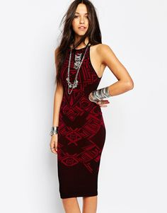 Image 1 of Free People Body-Conscious Midi Dress
