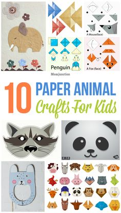 Top 10 Paper Animal Crafts For Kids
