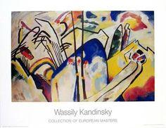 Composition IV Vassily Kandinsky Huile sur toile 190 x 275 cm Kunstsammlung Nordrhein-Westfalen, Düsseldorf Art Nouveau/Expressionisme Kandinsky Art, Wassily Kandinsky Paintings, Kandinsky Prints, Famous Abstract Artists, Abstract Paintings, Famous Artists, Paintings Famous, British Artists, Oil Paintings