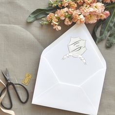 the perfect monogramed envelope liner for a wedding invite   Smitten on Paper