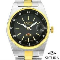 NEW AUTHENTIC SICURA AUTOMATIC STAINLESS STEEL WATCH w/DATE RETAIL $450.00! Under $130!