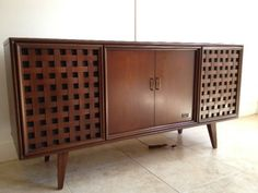zenith console stereo turntables   Details about ZENITH STEREO CONSOLE RECORD PLAYER TUNER CREDENZA MID ...
