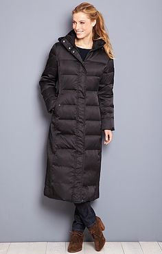 Puffer Coat jacket 70&39s Burgundy Peacoat Halston quilt long down