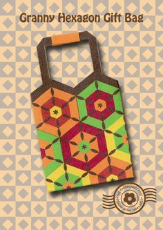 Free svg pdf and tutorial.  hexagon crochet patchwork style retro gift bagsThe Papercraft Post  DIY 3D